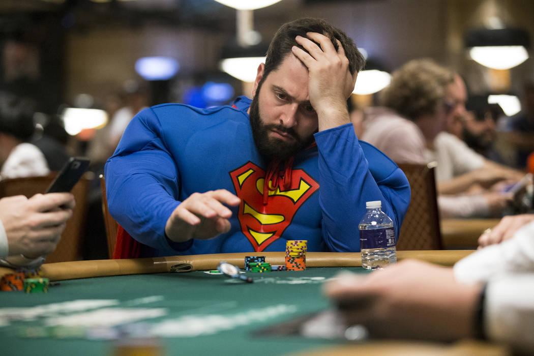 Jonathan Dwek of Toronto, Canada during the World Series of Poker Main Event day 1A at the Rio Convention Center in Las Vegas, Saturday, July 8, 2017. Erik Verduzco Las Vegas Review-Journal @Erik_ ...