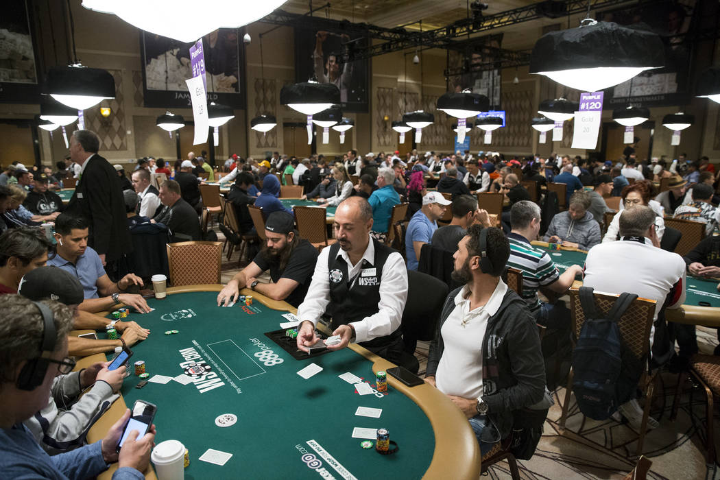 The Amazon room in the World Series of Poker Main Event day 1A at the Rio Convention Center in Las Vegas, Saturday, July 8, 2017. Erik Verduzco Las Vegas Review-Journal @Erik_Verduzco