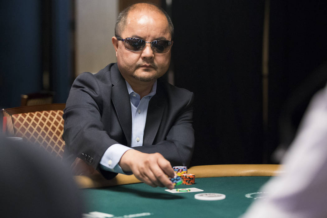 Jerry Yang, 2007 World Series of Poker Main Event champion, during the World Series of Poker Main Event day 1A at the Rio Convention Center in Las Vegas, Saturday, July 8, 2017. Erik Verduzco Las  ...