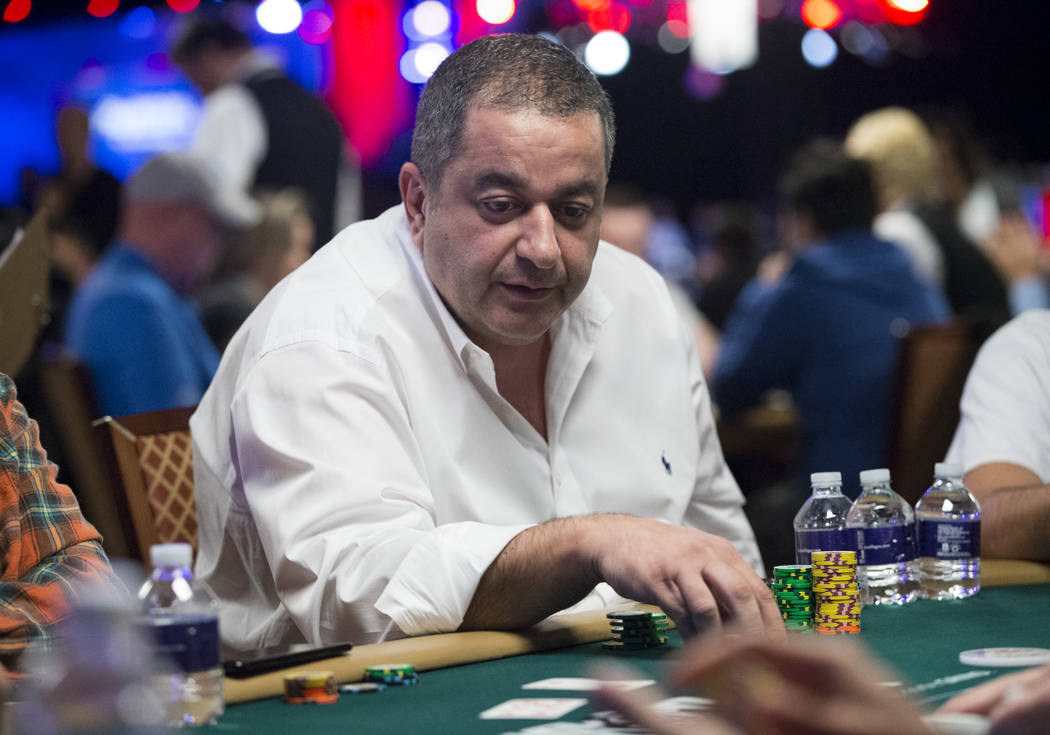 Iraj Parvizi during the World Series of Poker Main Event day 1A at the Rio Convention Center in Las Vegas, Saturday, July 8, 2017. Erik Verduzco Las Vegas Review-Journal @Erik_Verduzco