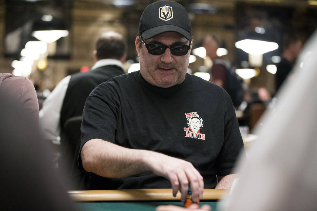 Mike Matusow during the World Series of Poker main event day 1A at the Rio Convention Center in Las Vegas, Saturday, July 8, 2017. Erik Verduzco Las Vegas Review-Journal @Erik_Verduzco