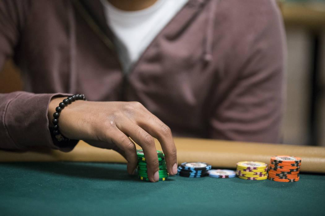 Pratyush Buddiga during the World Series of Poker main event day 1A at the Rio Convention Center in Las Vegas, Saturday, July 8, 2017. Erik Verduzco Las Vegas Review-Journal @Erik_Verduzco