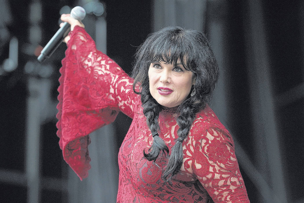 Ann Wilson of Heart performs at RFK Stadium on Saturday, July 4, 2015, in Washington. (Nick Wass/Invision/AP)