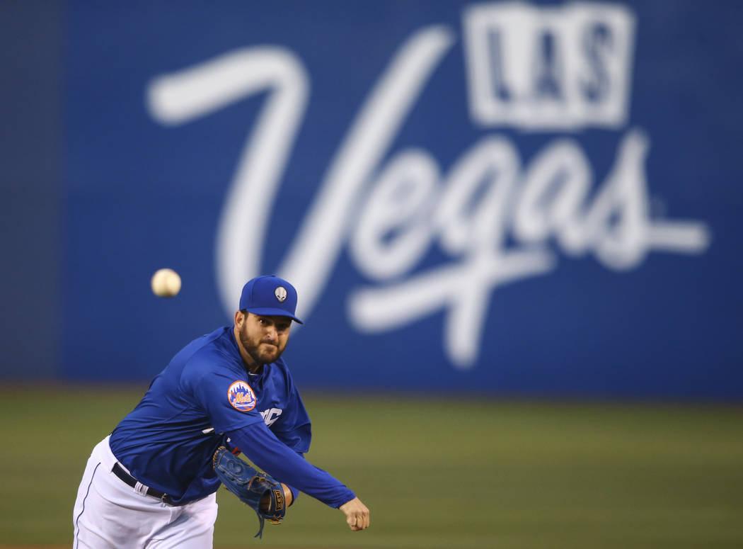 Donovan Hand earned the win on Sunday despite giving up six runs on nine hits in five innings. (Chase Stevens Las Vegas Review-Journal) @csstevensphoto