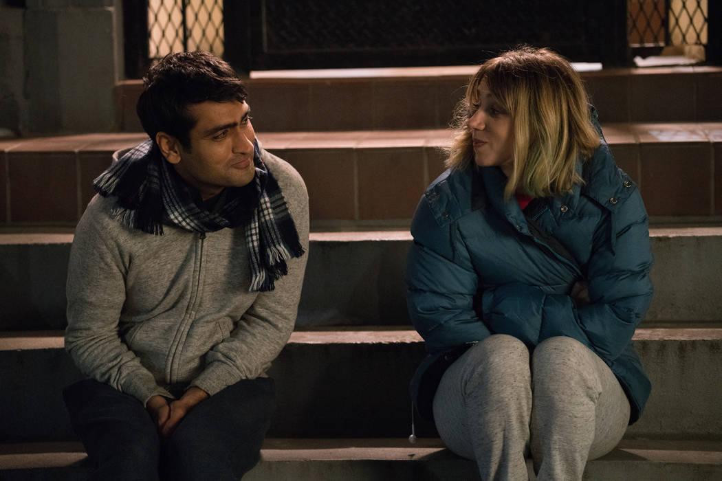 "Kumail Nanjiani as ""Kumail"" and Zoe Kazan as ""Emily"" in The Big Sick. Sarah Shatz."