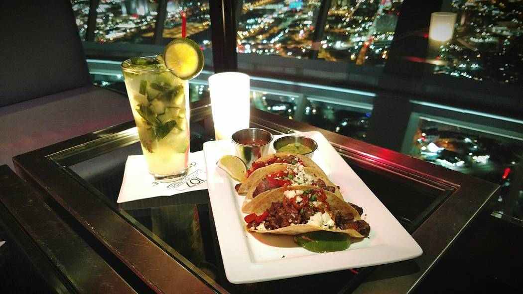 Australian-bred wagyu tacos at 107 SkyLounge. Facebook