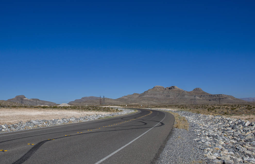 A 650-acre site, including a mountain, right, recently bought by a Southern Nevada contractor in Apex on Wednesday, July 5, 2017. (Patrick Connolly/Las Vegas Review-Journal) @PConnPie