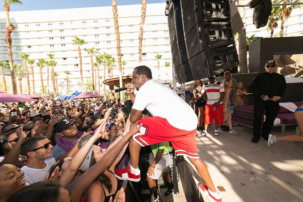 Puff Daddy kicked off the weekend with an over-the-top performance at the original Las Vegas pool party, Rehab Beach Club. (Jeff Ragazzo /Kabik Photo Group)