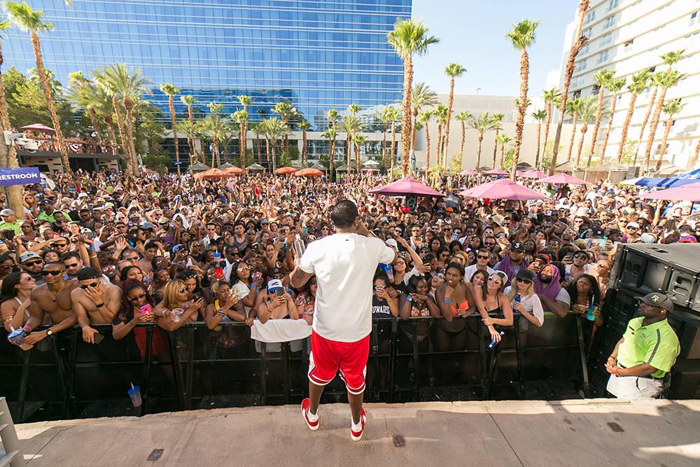 Puff Daddy kicked at the original Las Vegas pool party, Rehab Beach Club. (Jeff Ragazzo /Kabik Photo Group)