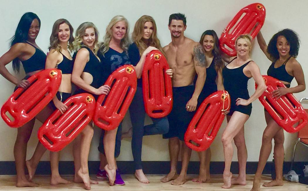 "Baywatch beauty Angelica Bridges, center, will  open a new ""ICandy"" show at Harrah's in Reno on July 14. (ICandy/Nannette Barbera)"