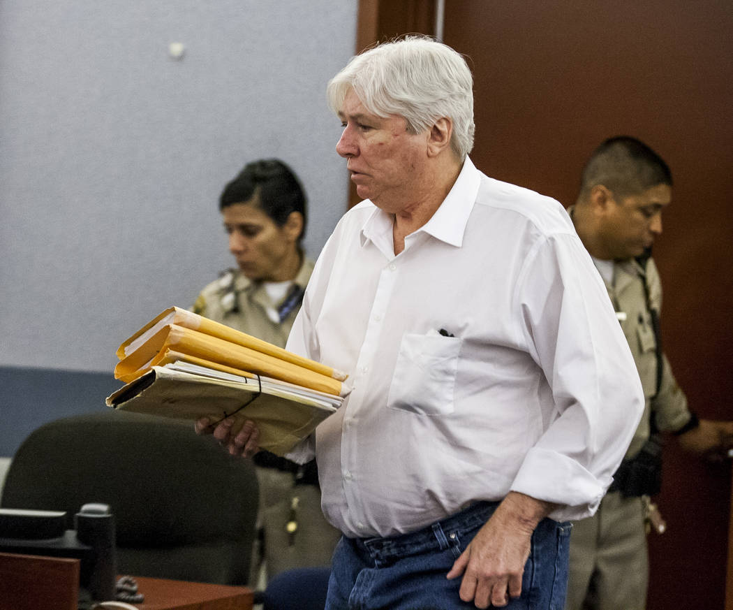 Thomas Randolph walks into the courtroom before being sentenced to death by jurors during penalty phase of his murder trial at the Regional Justice Center in Las Vegas on Wednesday, July 5, 2017.  ...