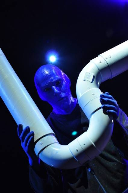 Alain Rochefort has performed as a Blue Man for 11 years.  (Courtesy)
