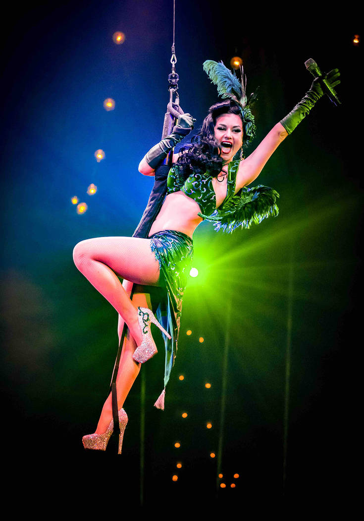 "Green Fairy from the hit ""Absinthe"" show, Melody Sweets. (Kabik Photo Group)"