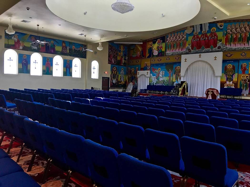 Hamere Noh Ethiopian Orthodox Tewahido Church in Southwest Las Vegas was finished two years ago. Vice chairman Demelash Assefa said his congregation has grown so much recently that it's already at ...