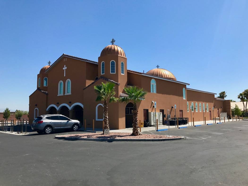 The exterior of the Noh Ethiopian Orthodox Tewahido Church in Southwest Las Vegas. (Madelyn Reese/View) @MadelynGReese
