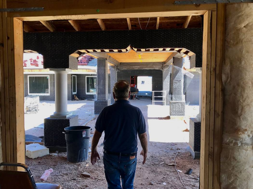 George Boghos of GB Construction, Inc. tours another project of his, Govinda's Sanctuary, a Hindu temple in Southeast Las Vegas. (Madelyn Reese/View) @MadelynGReese