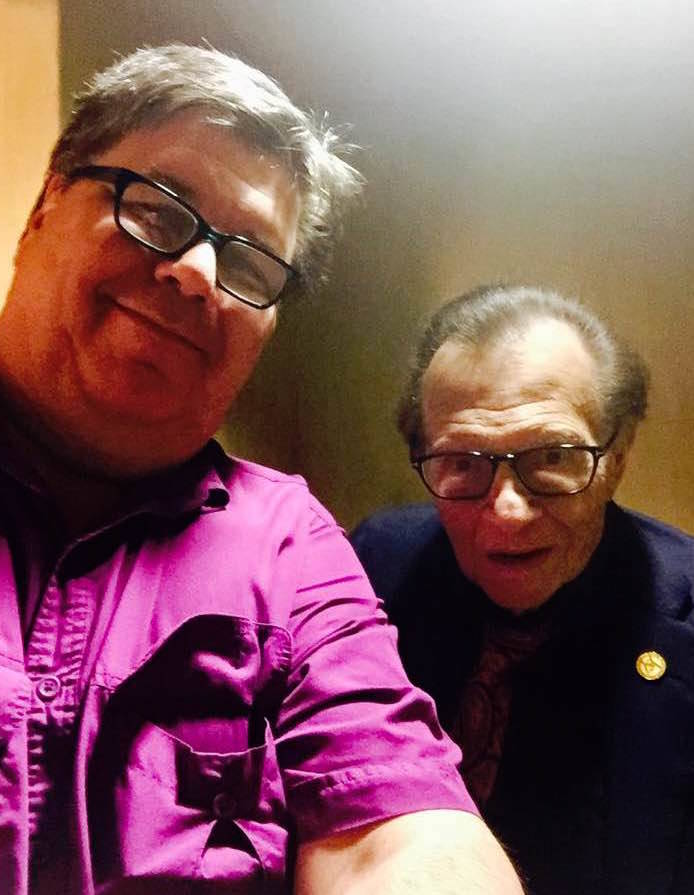 """Video Dave"" Bancroft is shown in a selfie with Larry King at an event in Las Vegas in June. (Facebook)"