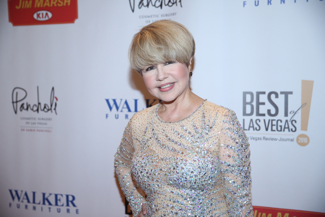 Pia Zadora arrives on the red carpet before the 2016 Best of Las Vegas Awards at The Venetian on Saturday, Nov. 5, 2016, in Las Vegas. (Erik Verduzco/Las Vegas Review-Journal)