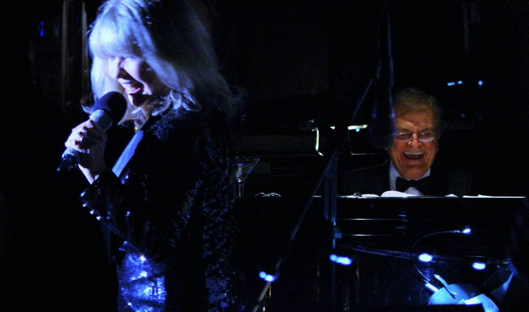 "Pia Zadora is shown with the late music director and piano great Vincent Falcone during her ""Pia's Place"" showcase at Piero's Restaurant. Falcone died of brain cancer in Los Angeles on Friday, Mar ..."