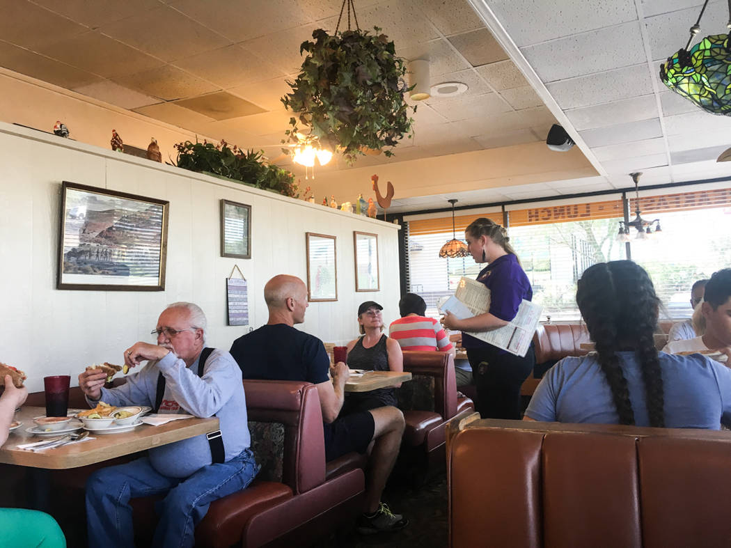 "The Omelet House on Boulder Highway has close to 20 employees, who all treat each other ""like family,"" Ostertag said. (Alex Meyer/View) @alxmey"