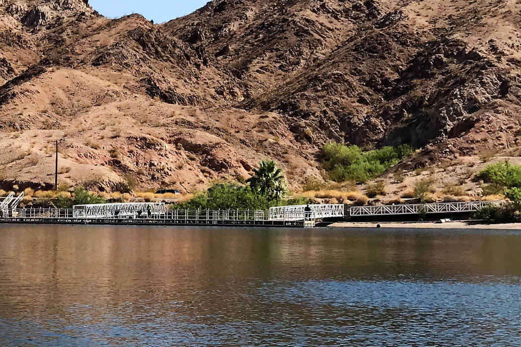 The fishing pier at Willow Beach extends a short distance over the waters of the Colorado River, providing anglers a chance to reach a little farther with their casts. Some good striped bass have  ...