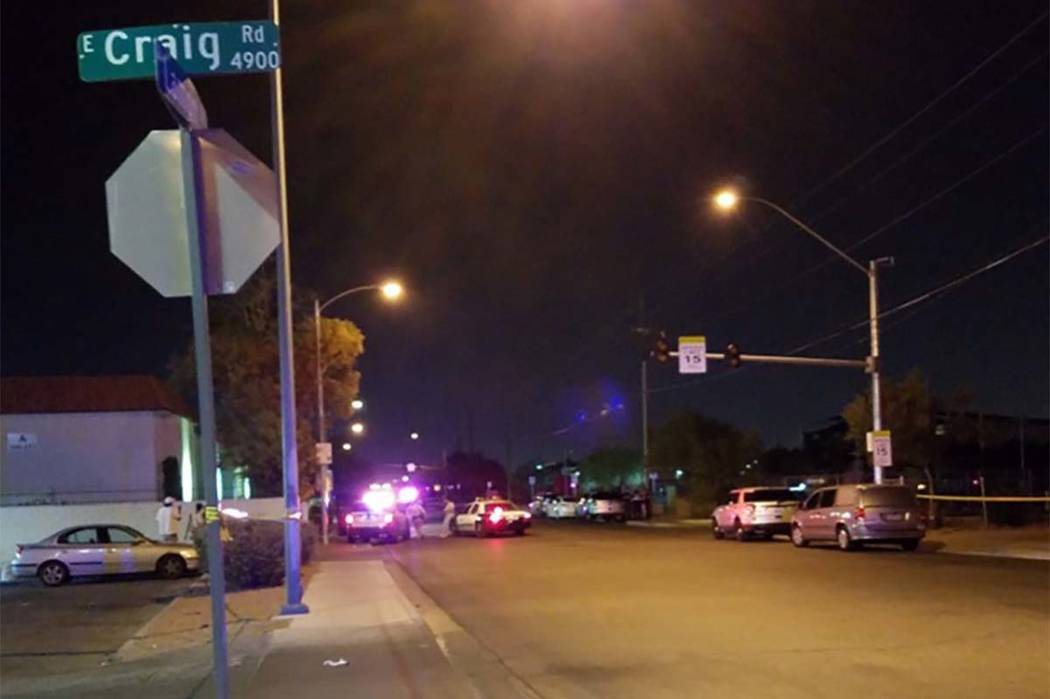 Las Vegas homicide detectives are investigating a deadly shooting that took place early Wednesday morning at 4300 N. Lamont St. (Mike Shoro/Las Vegas Review-Journal)