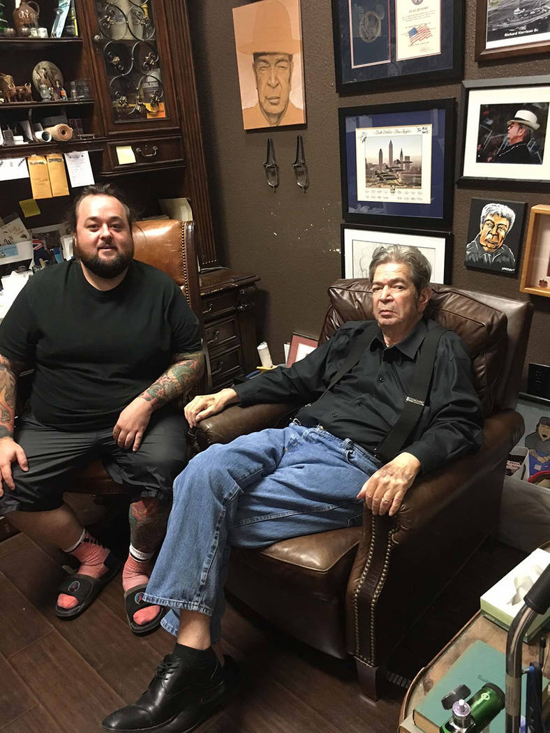 "Austin Russell, ""Chumlee,"" of  ""Pawn Stars"" and the reality TV star ""Old Man,"" Richard Benjamin Harrison. (Courtesy)"