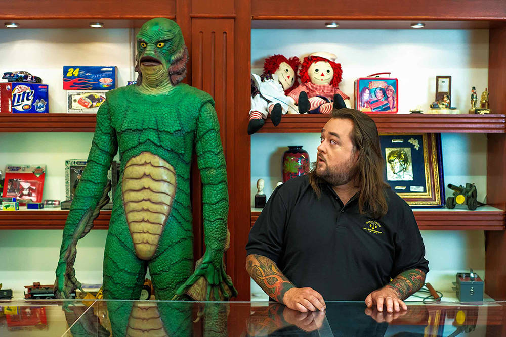 "Austin Russell, ""Chumlee,"" at the World Famous Gold & Silver Pawn Shop. (Bryan Hainer)"