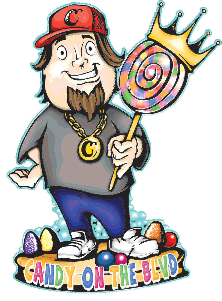 "An illustration of Austin Russell, ""Chumlee"" that celebrated the opening of his candy shop. (Courtesy)"