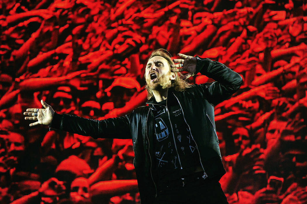 David Guetta performs on the Virgin Media Stage as part of the V Festival at Hylands Parks, Chelmsford, Sunday, Aug 21, 2016. (Photo by Joel Ryan/Invision/AP)