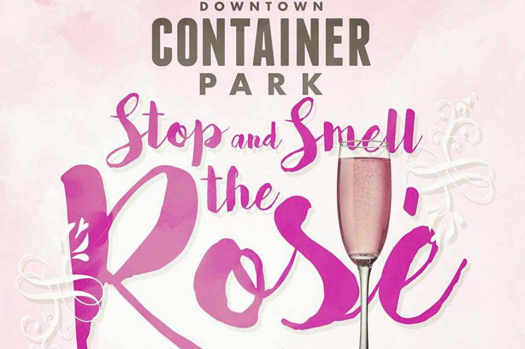 """Stop and Smell the Rosé Wine Walk"" at Downtown Container Park. Facebook"