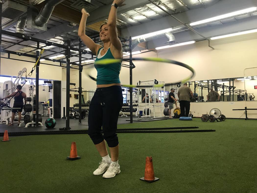 Getti Kehayova teaches class on June 1 at Bodysport Performance Training, 1922 Rock Springs Drive. (Kailyn Brown/View) @KailynHype