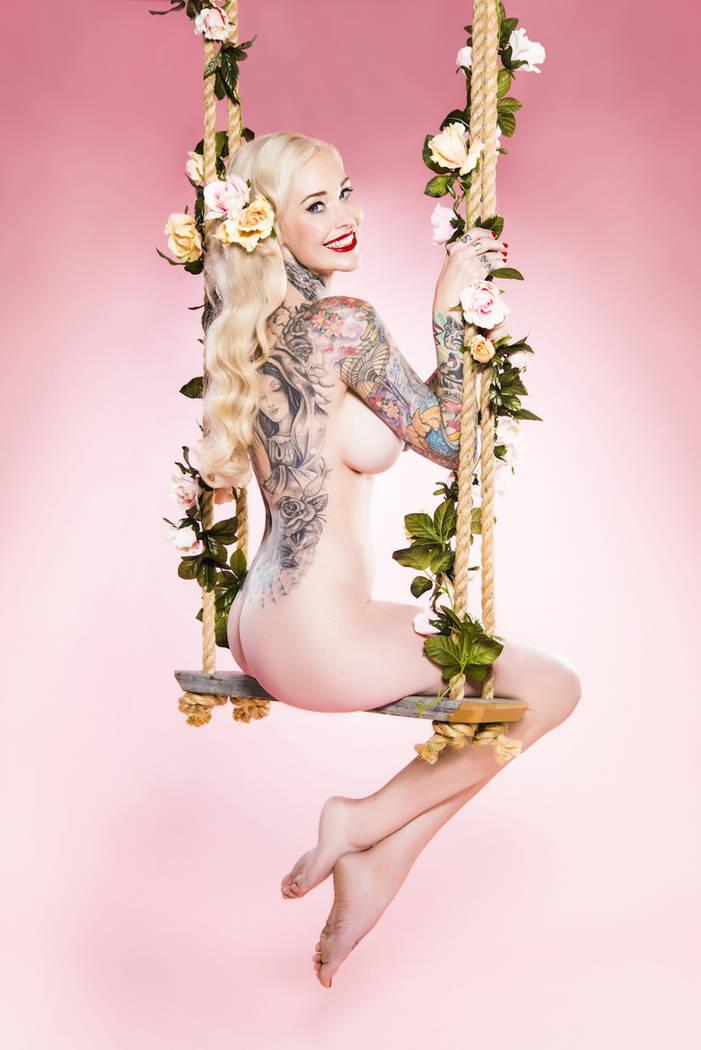 "Sabina Kelley , international pinup model and star of the ""Best Ink"" tattoo reality series. (Sherbet Birdie)"