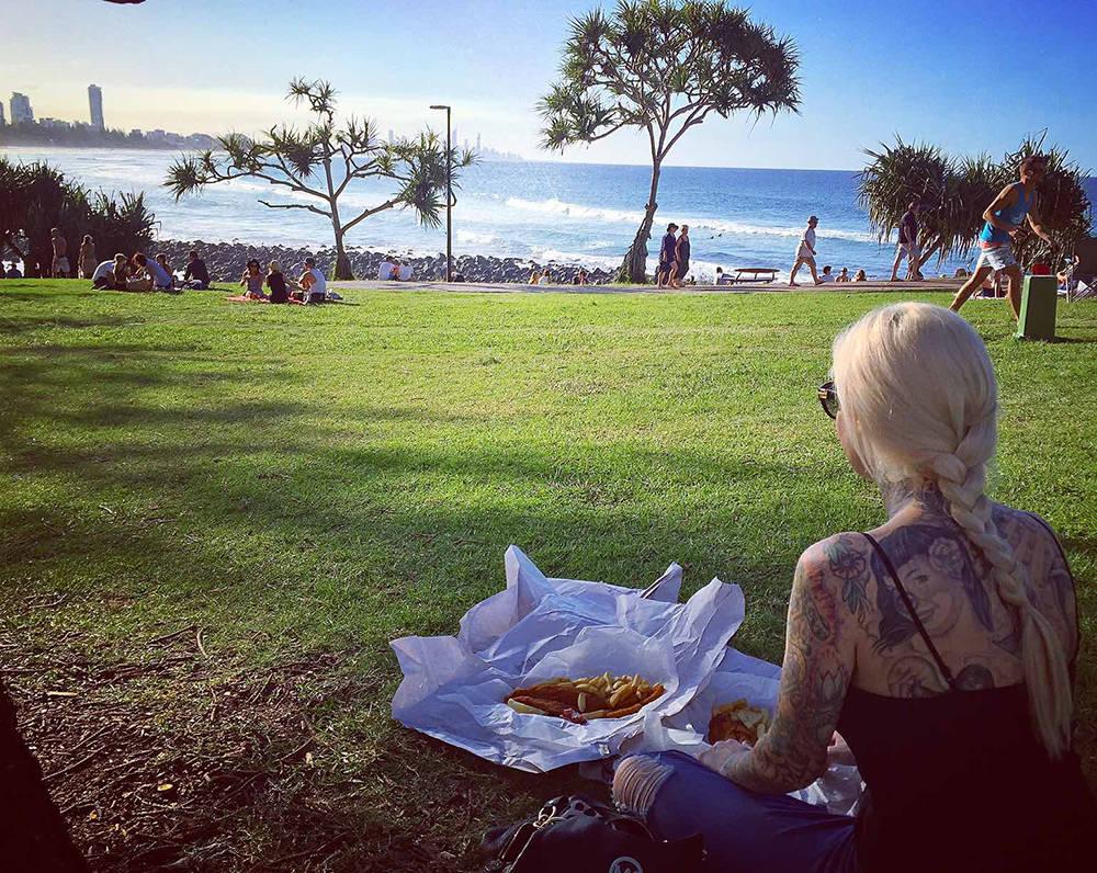 Sabina Kelley said she misses Vegas but enjoys the beaches of Australia. (Courtesy)