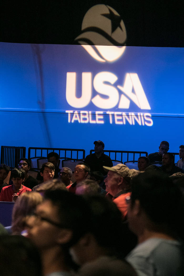 "The crowd awaits the competitors before the USA Table Tennis 2017 Supermicro National Championship ""Final Table Celebration""at Silverton hotel-casino on Friday, July 7, 2017, in Las  ..."