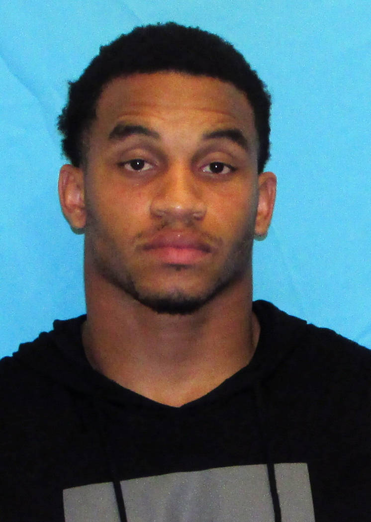 This booking photo provided by the Frisco Police Department shows Damien Wilson. Police say Wilson, a Dallas Cowboys linebacker, has been arrested on two counts of aggravated assault with a deadly ...