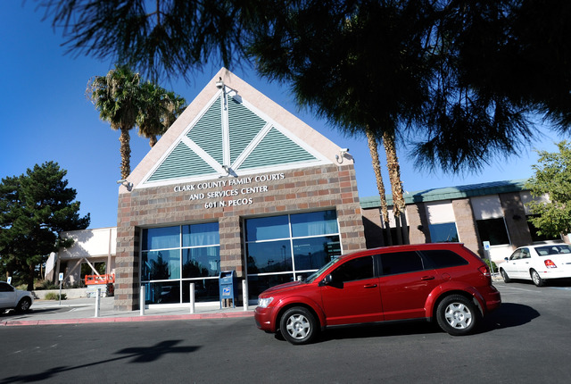 A general view of the entrance to the Clark County Family Court on Friday, Oct. 18, 2013.  (David Becker/Las Vegas Review-Journal)