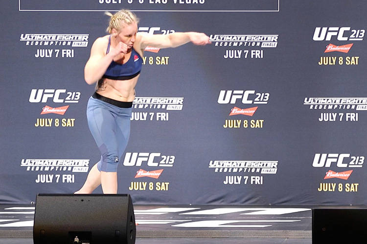 Valentina Shevchenko vows to take home the UFC women's bantamweight belt come July 8. She will face reigning champion Amanda Nunes in the main event of UFC 213. (Heidi Fang/Las Vegas Review-Journal)