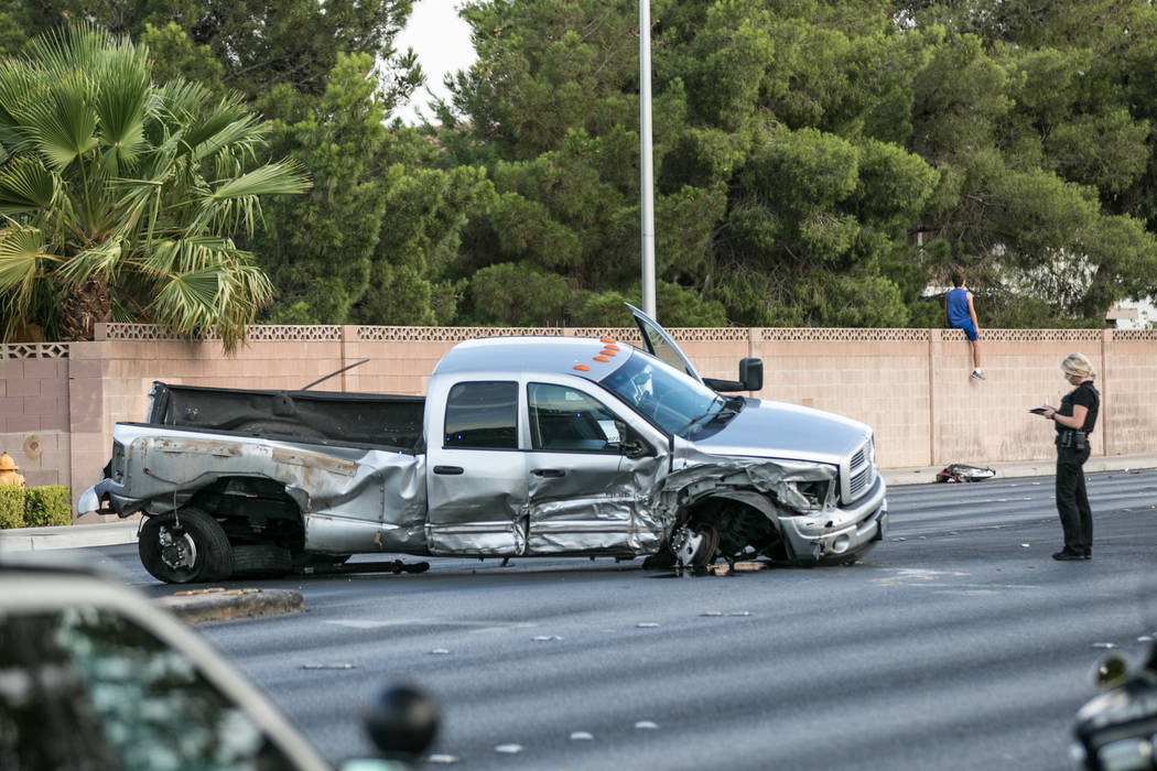 1 dead in west las vegas car crash involving stolen truck las vegas review journal. Black Bedroom Furniture Sets. Home Design Ideas