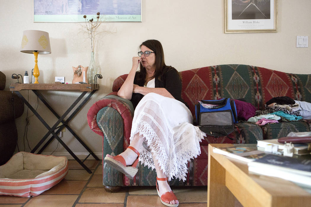 UNLV professor and poet Claudia Keelan is pictured at her home in Las Vegas on Thursday, July 6, 2017, the day before she left for Cuba to attend a literary event. Bridget Bennett/Las Vegas Review ...