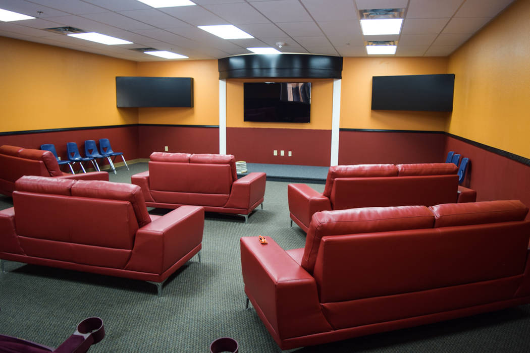 The youth facility's theater room will be used to watch sermons and Christian-themed movies, Cunningham said. (Alex Meyer/View) @alxmey