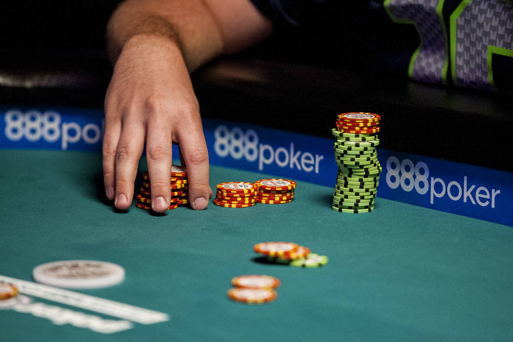Matt Affleck competes at the final table of the Colossus III - $565 No-Limit Hold'em tournament at the World Series of Poker on Wednesday, June 7, 2017.  Patrick Connolly Las Vegas Review-Journal  ...