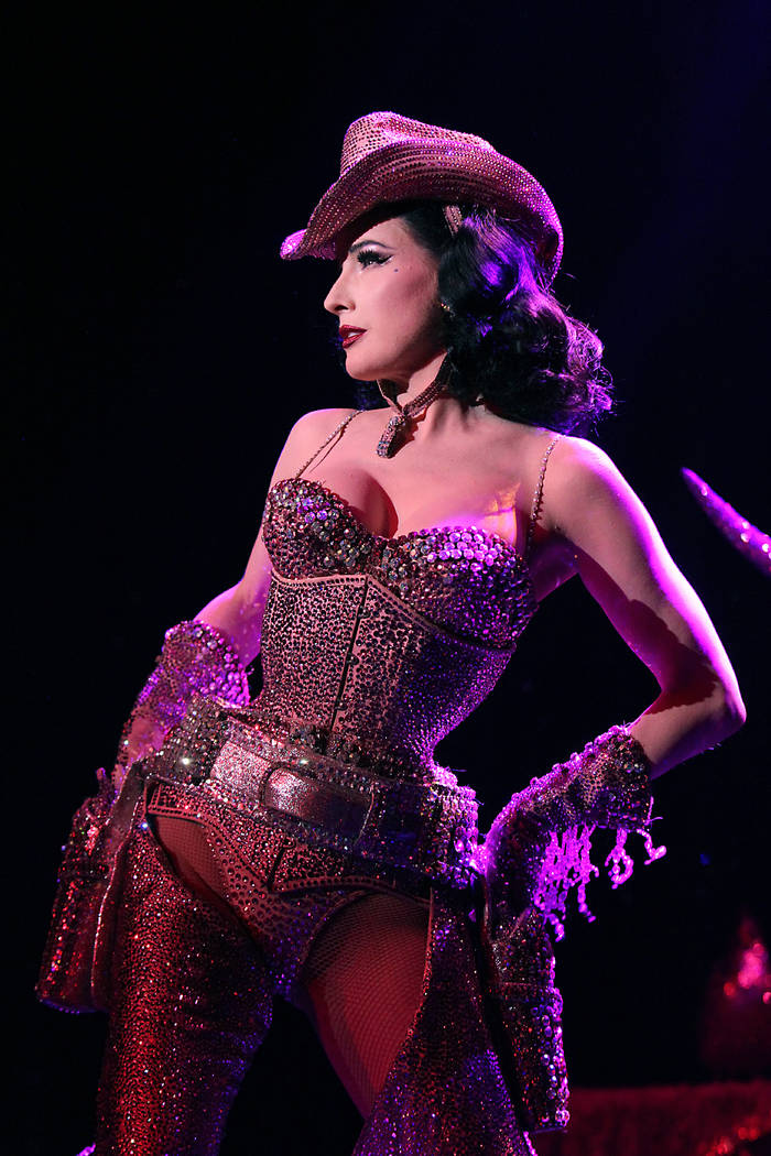"""Classic striptease is done in a grand and dramatic fashion,"" Dita Von Teese says. Jennifer Mitchell"