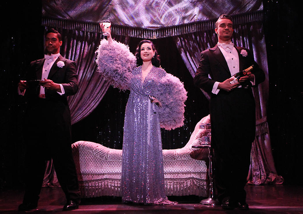 """""""Classic striptease is done in a grand and dramatic fashion,"""" Dita Von Teese says. Jennifer Mitchell"""