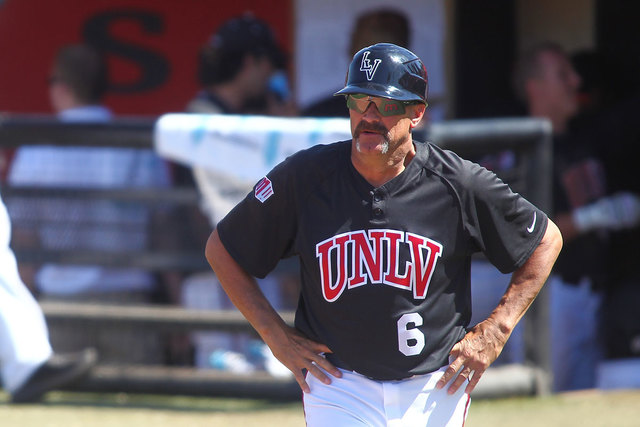 UNLV head baseball coach Tim Chambers has a new five-year contract. (Chase Stevens/Las Vegas Review-Journal file)