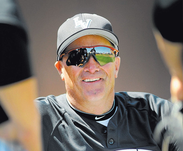 UNLV baseball coach Tim Chambers, who also coached at Bishop Gorman and College of Southern Nevada, is an inductee into the 2014 class of the Southern Nevada Sports Hall of Fame. (David Becker/Las ...