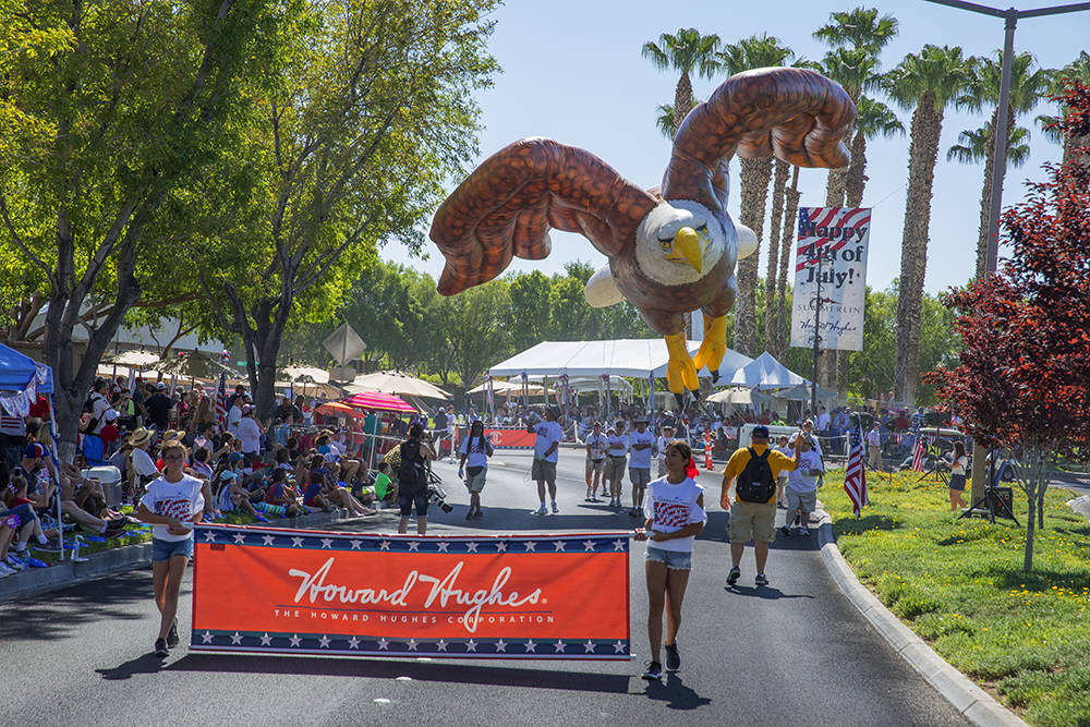 The parade, which began in 1995 as a small neighborhood event, is today Southern Nevada's largest Independence Day parade with more than 70 entries. (The Summerlin Council)
