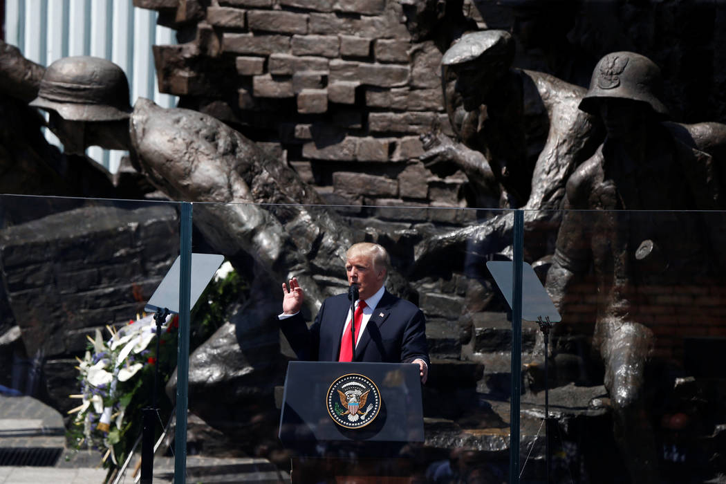 US. President Donald Trump gives a public speech at Krasinski Square, in Warsaw, Poland July 6, 2017. REUTERS/Kacper Pempel