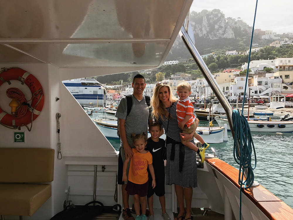 Mrs. Nevada Stephanie Barrett with her family on vacation. (Courtesy)