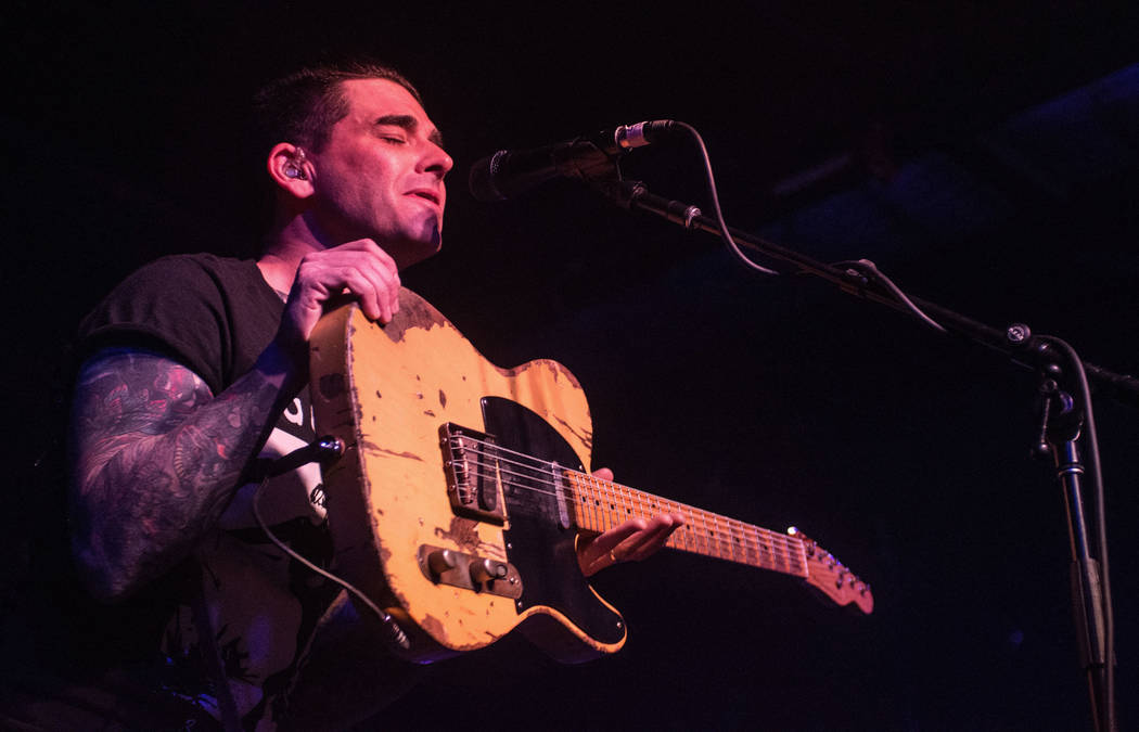 Dashboard Confessional - Chris Carrabba Dashboard Confessional in concert at The Basement East, Nashville, USA - 26 Feb 2017 (Rex Features via AP Images)